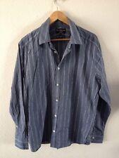 Marks & Spencer Nigel Hall Shirt Size L Blue Stripe <R12328