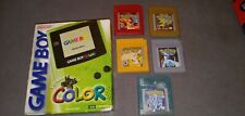 Gameboy Color Lot Original Pokemon Emerald, Pokemon Gold Rare Original