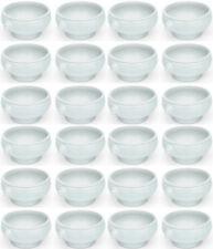 Lot de 24 SET löwenkopfsuppentasse, Bol à soupe, porcelaine, blanc, 0,45 LITRES