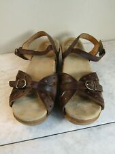 Dansko Sandals 3805782200 Brown Leather Clog Sandal Shoes Women's EU 39