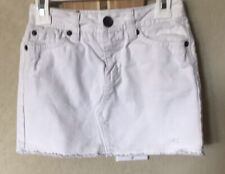 Justice Jeans Girls White  Denim Skirt With Shorts Size 8S