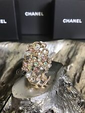 NWT CHANEL 2016 FAIRY BOUQUET 16C CRYSTAL RING Iridescent Rainbow Tutti Frutti