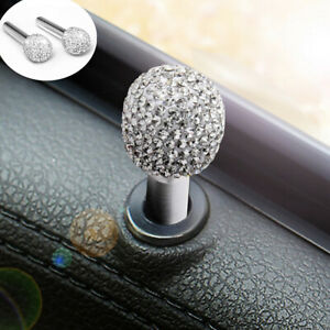 Rhinestone Bling Car Interior Door Locking Lock Knob Pull Pins Cover Accessories