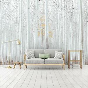 Fototapete BIRKENWALD 3D Landschaft Wohnzimmer Schlafzimmer Natur 54