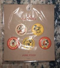 Mickey Mouse Junk Food 90th Anniversary Buttons 5 Piece Set Disney Target New