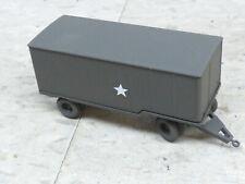Roco Minitanks Painted WWII US M-119 6T Closed Van Cargo Trailer Lot #2638B