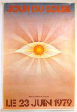 JEAN-MICHEL FOLON – JOUR DU SOLEIL – 82 x122 cm – AFFICHE ORIGINALE –RARE - 1979
