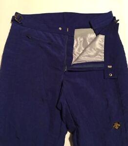 "Adult Descente Insulated Ski Pants Size 38L 31"" Inseam Zipper Fly+Snap Adj Waist"