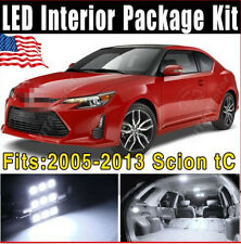 10 X White SMD LED Lights Interior Package Kit Combo For Scion tC 2005-2013