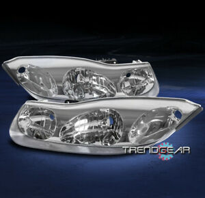 FOR 01-02 SATURN SC SERIES SC1 SC2 REPLACEMENT HEADLIGHTS HEADLAMPS LAMPS CHROME
