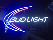 "13""x8""BUDLIGHT Neon Sign Light Handmade Real Glass Beer Bar Pub Home Wall Poster"