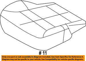 Lincoln FORD OEM 08-10 MKX Front Seat-Cushion Bottom Cover Left 9A1Z7862901BD