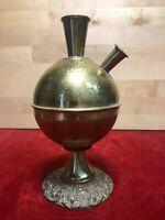 """Ancien Magnifique Soliflore Boule forme Calice en Bronze /Laiton """"Jerusalem"""""""