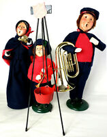 Byers Choice Carolers 1994 Salvation Army Women Red Bucket Bell Singer Man Tuba