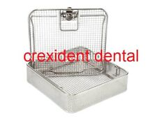 Full Wire Mesh Medical Sterilization Basket with Locking Lid