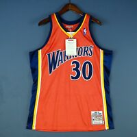 100% Authentic Stephen Steph Curry Mitchell Ness Warriors Jersey Mens Size 40 M