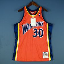 100% Authentic Stephen Curry Mitchell Ness 09 10 Warriors Jersey Mens Size 40 M