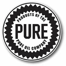 ROUND PURE OIL GASOLINE LUBSTER DECAL GAS OIL CAN PUMP STICKER