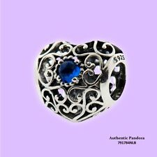 Authentic Pandora December Heart Birthstone Charm in 925 Silver, 791784NLB