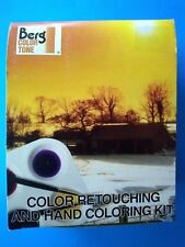 Berg Color Tone 000824 Retouching & Hand Coloring Kit 10 Colors, 2 Sable Brushes