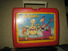 """1 RARE HTF 1989 THE FLINTSTONES COLLECTABLE PLASTIC LUNCH BOX , """" SOLD AS IS """""""