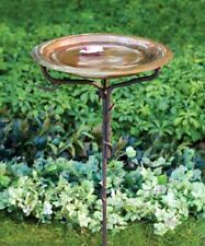 New Ancient Graffiti Solid Copper Bird Bath with Stake