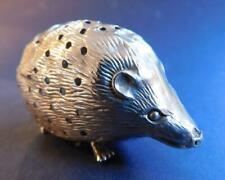 Whimsical English Sterling Silver Hedgehog Toothpick Holder Levi & Salaman 1907