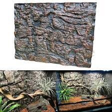 2pcs 3D Foam Rock Reptile Aquarium Fish Tank Background Backdrop Plate 60X45cm