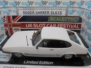 Scalextric C4284s UKSF 2021  Ford Capri Mklll 3.0s L/E   Lights/DPR  BNIB