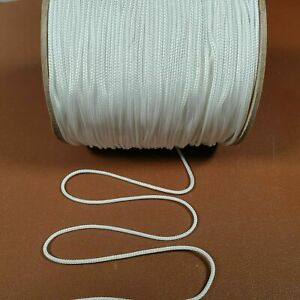 1MM  White Braided CORD - ROMAN AUSTRIAN BLIND STRING STRONG PULL ROPE DIY