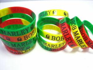 100pcs Bob Marley RASTA rubber wristbands band bracelets Wholesale Party gifts