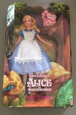"Walt Disney Alice in Wonderland & the Cheshire Cat 1999 Mattel 12"" doll New"
