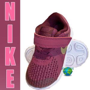 Nike Size 4C Revolution 4 (TDV) Toddler Shoes Tea Berry/Metallic Gold 943308 601