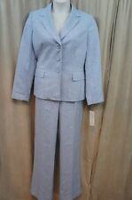 Evan Picone Pant Suit Sz 16 Blue Mist City Chic Business Career Dinner Pant Suit