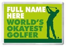 Golf birthday gift novelty fridge magnet ANY NAME husband dad boyfriend brother