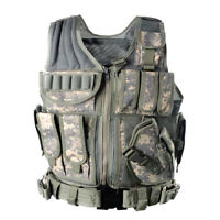 Tactical Vest Military Plate Carrier Police Molle Assault Combat Gear ACU