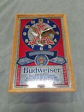 Budweiser Clock Sign Mirror Mancave Beer sign