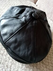 Mens Leather Bakers Boy Hat