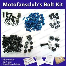 For Honda CBR1000RR 2006 2007 06 07 Complete Full Fairing Bolt Kit Blue GM