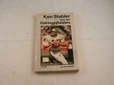VINTAGE KEN STABLER & THE OAKLAND RAIDERS PAPERBACK BOOK BY LOU SAHADI