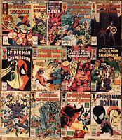 Marvel Team-Up Spider-Man High Grade Marvel Comic Book Lot of 12