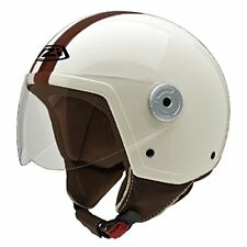 Nzi 2016 Vintage II Classic Cream/brown Casco de Moto Multicolore (w6b)