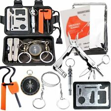 Outdoor Survival Tools Kit Emergency Accessories Gear Hard Case Camping Hiking