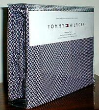 TOMMY HILFIGER  DIAMOND NAVY PINK WHITE 3 PC.TWIN SHEET SET ~ FREE PRIORTY