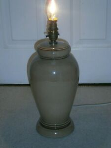 WONDERFUL LARGE DENBY VICEROY HAND THROWN BROWN LAMP RARE DISCONTINUED  14 INCH