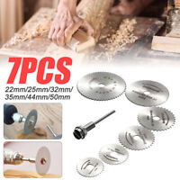 7pcs Circular Saw Mandrel Cutting Cutter Disc Blade Dremel Drill For Rotary Tool