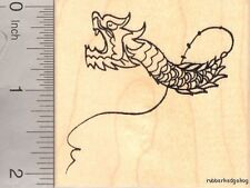 Chinese Dragon Kite Rubber Stamp J17408 WM