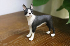 Resin MINI Boston Terrier dog Hand Painted simulation model Figurine Statue