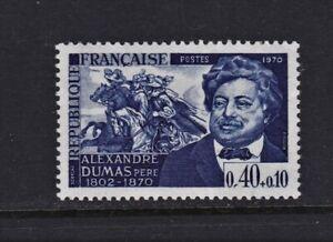 France Postage Stamps 1970 Alexandre Dumas Anniversary Single MNH (1v).