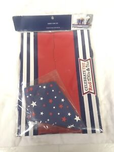 PIER ONE PAPER CONE SET CELEBRATE RED WHITE BLUE 4TH OF JULY PARTY STARS POPCORN